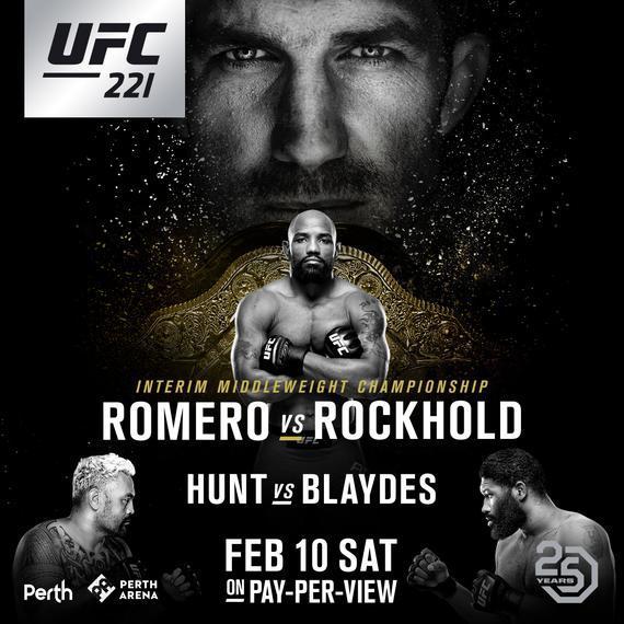 UFC221完整视频-对阵表-比赛时间