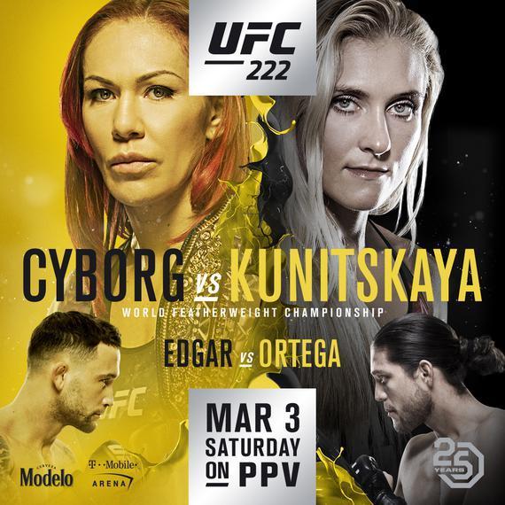 UFC222完整视频-比赛时间-对阵表